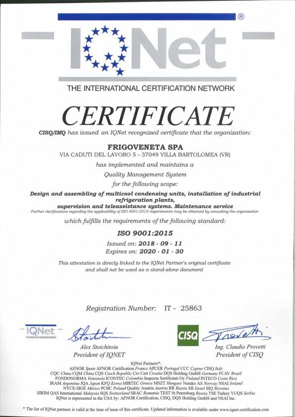 Certificazione frigoveneta